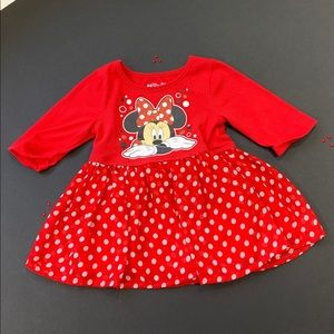 3T Disney Minnie Red Polka Dot T Shirt Dress